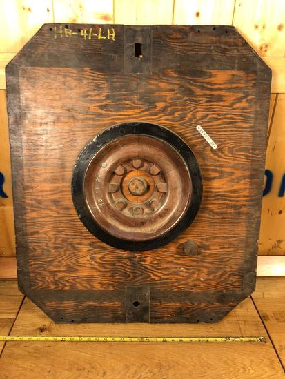 Vintage Industrial Salvaged Wooden Mold Wall Hanging