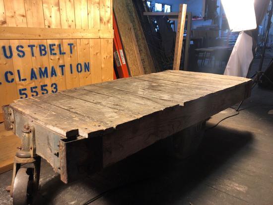 Vintage Industrial/RailRoad Cart