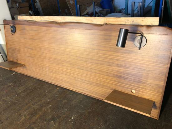 Hand Crafted Head Board from Reclaimed Lumber