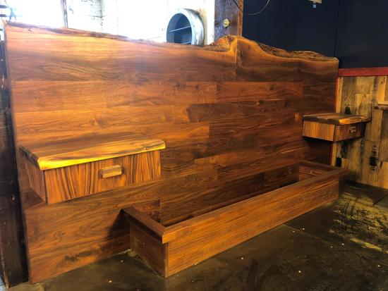 Hand Crafted Live Edge Queen Size Headboard