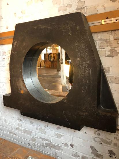 Vintage Wooden Mold Mirror Unit salvaged from T & B Foundry, Cleveland, Oh.