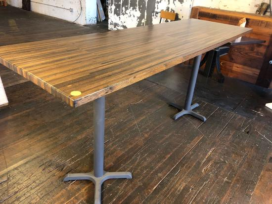 High Top 8 ft Long Cocktail Table Salvaged from 6218 St. Clair Ave, Cleveland