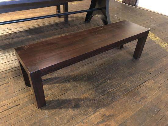 Set of two hand crafted, wooden dining room table benches from Cleveland, Oh.