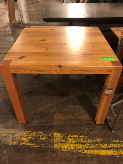 Hand crafted table 36x36x30