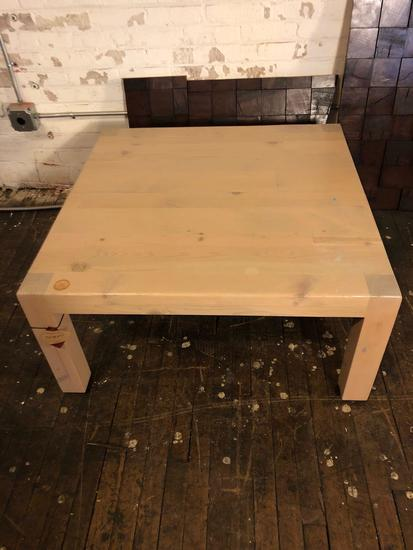 Approx 36 x 36 coffee table.