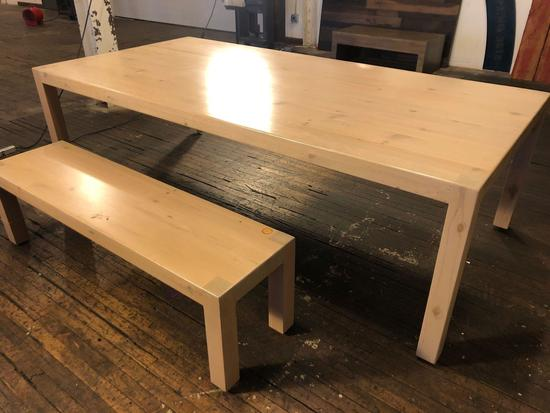 8 ft X 4 ft Hand Crafted Wooden Dining Room Table