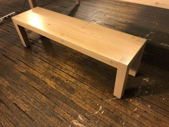 (1) Hand Crafted Wood Bench approx 5ft