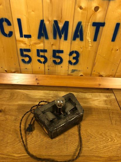 Vintage Industrial Salvaged Lamp Fixture