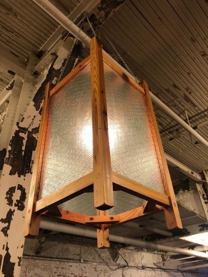 Vintage Chicken Wire Hanging Box Lights