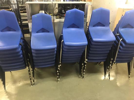 39- Blue Plastic School chairs