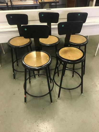 Lot of 5 Metal framed bar stools