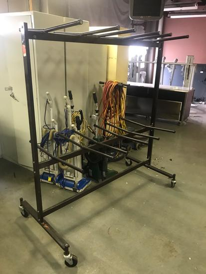 Rolling chair rack on casters