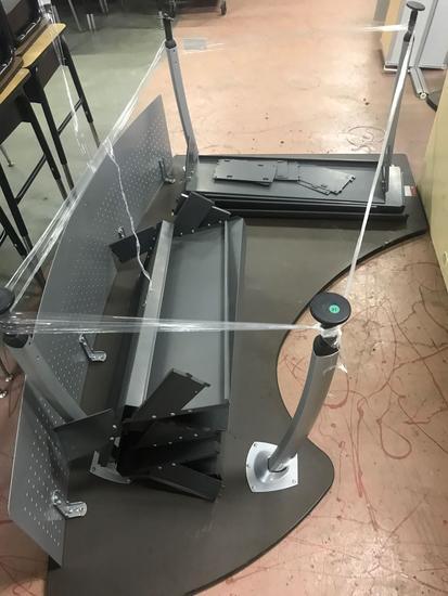 Computer desk, needs re assembled