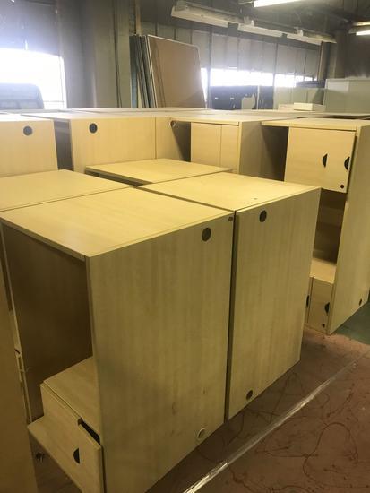 Large lot of office desks