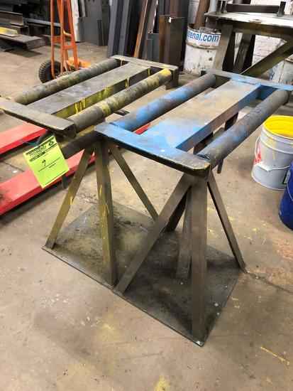 Pair of Industrial steel rollers