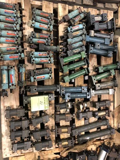 Bulk Lot of assorted Hydraulic Cylinders