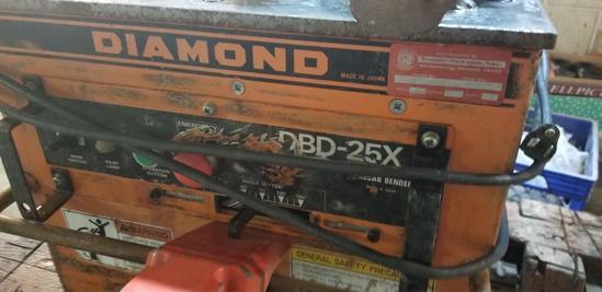 Diamond DBD-25X Rebar Bender