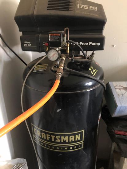 Craftsman Professional 2 Stage Oil Free Vertical 60 gal Air Compy
