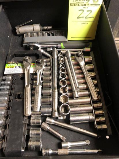 Bulk drawer load of 3/8 sockets and extensions