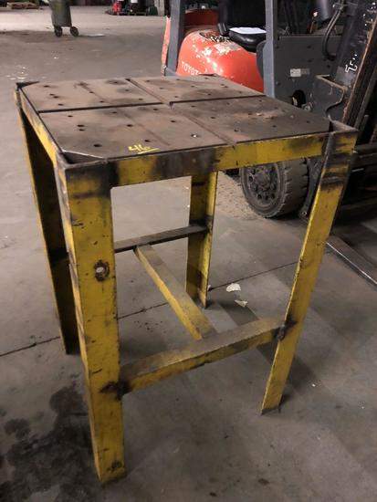 40 x 25 x 25 steel set up table
