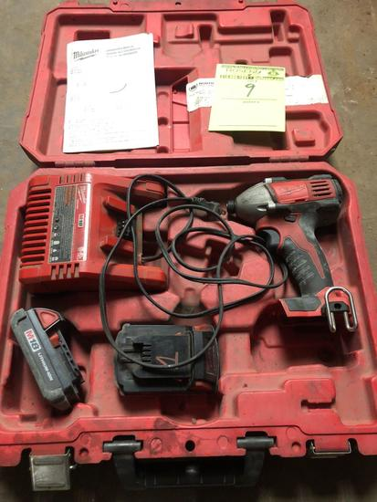 Milwaukee M18 18v Impact w/ Charger and 2 batteries