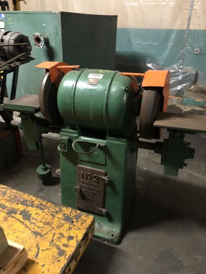 Gardner Machine Co #2 Large Industrial Dual Pedestal Grinder