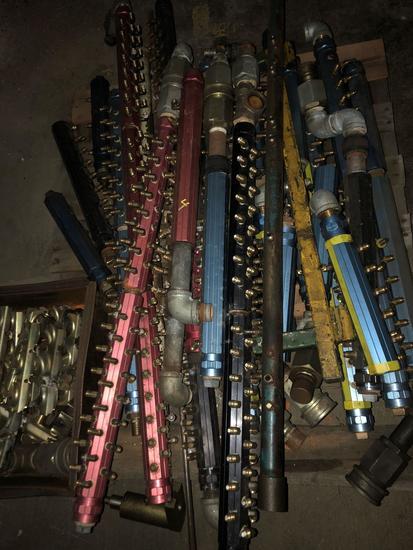 Group lot of multi port aluminum air valves