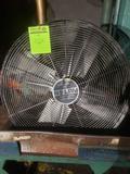 Patton 30 inch wall mount Shop Fan powers on 34 inch base