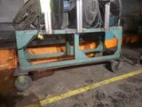 Heavy duty shop cart with metal dividers
