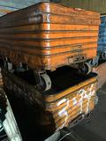 2 Rolling Steel Parts Hoppers -60x40x24 in.