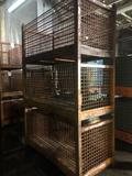 3 Stackable Steel Wire Shipping Crates 72x36x36 in