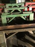 Lot of 4 solid steel sawhorses 48 in long x 27 in tall