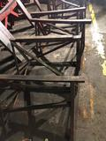 Lot of 4 solid steel sawhorses 36 long x 25 tall