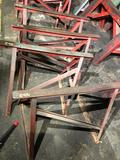 Lot of 4 solid steel sawhorses 36 in long x 25 in tall