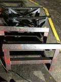 Lot of 4 solid steel sawhorses 34 in/36 in x 21 in