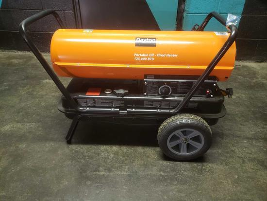 Like New Dayton 125,000 BTU Portable Oil - Fired Heater