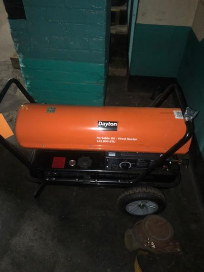 Like New Dayton 125,000 BTU Oil-Fired Heater