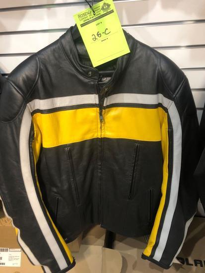 New Joe Rocket Classic Retro Leathwr Riding Coat