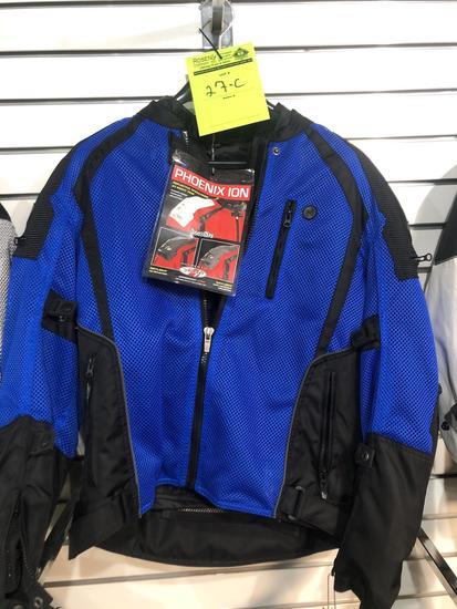 New Joe Rocket Phoenix Ion Blue Padded Riding Coat
