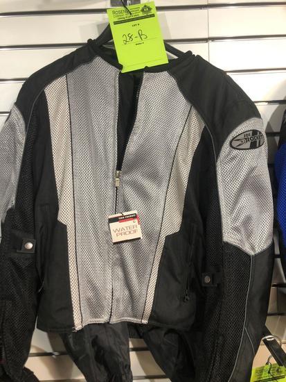 New Joe Rocket Gray/Black Phoenix 5.0 Riding Jacket