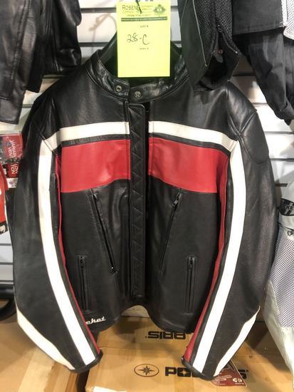 New Joe Rocket Old School red/black leather riding coat