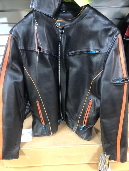 New Leather King Vented Retro Speedway Riding Coat