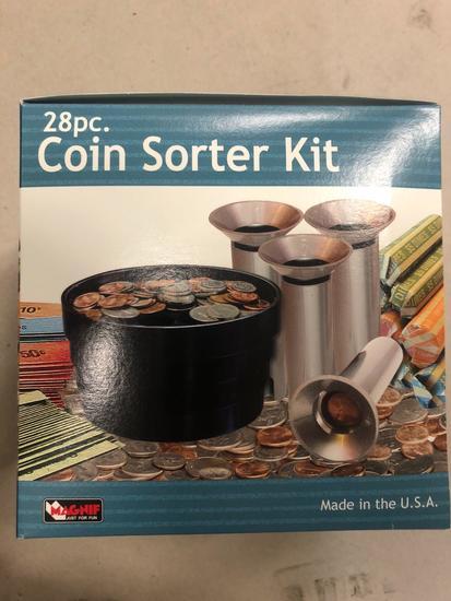 28 pc Coin Sorter Kit (shake, sort, count, roll)