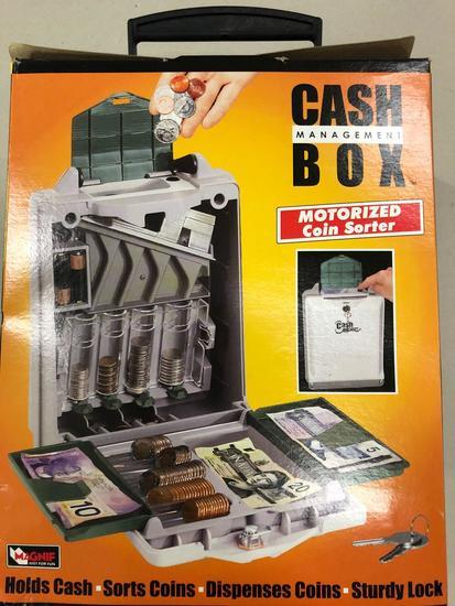 Cash Management Box w/ Motorized Coin Sorter (Pallet 1)