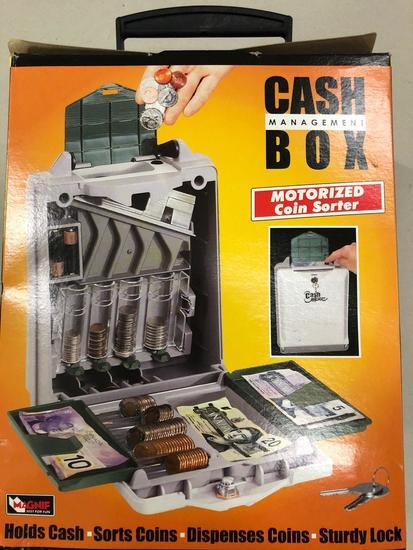 (Pallet 4) Cash Management Box w/ Motorized Coin Sorter