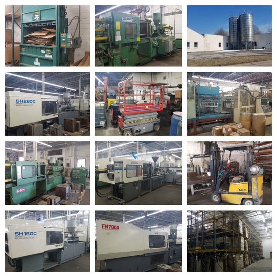 2 Day-HUGE Inj. Molding Plant Total Liquidation