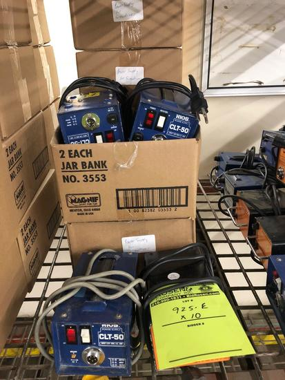 Lot of (10) Power Supplies for Electric Screw Guns (colors and brands may differ)