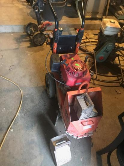 Gas Powered Diamond Brand Concrete Grinder, runs and operates as intended