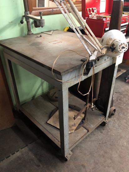 Vintage Steel Welding Table