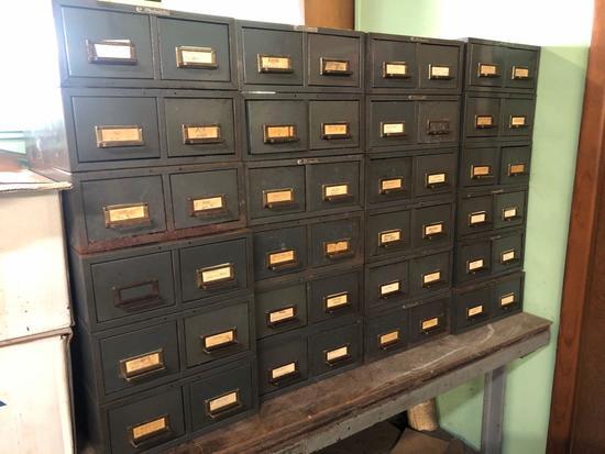 (24) Vintage Industrial Art Steel Co Inc-SteelMaster Dual Drawer Filers (each filer is filled with